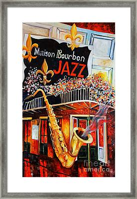 The Maison Bourbon New Orleans Framed Print