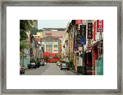 Framed Print featuring the photograph The Majestic Theater Chinatown Singapore by Imran Ahmed