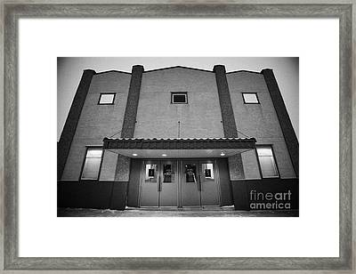 the majestic theatre Biggar Saskatchewan Canada Framed Print by Joe Fox