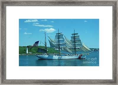 The Majestic Us Coast Guard Framed Print by John Malone