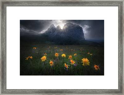 The Majesty Of Sassolungo Framed Print