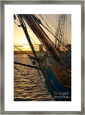 The Majesty Of The Ocean Framed Print by Claudia Ellis