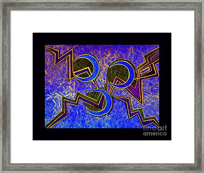 The Making Of A Moment In The Cosmic Neural Net Framed Print by Susanne Still