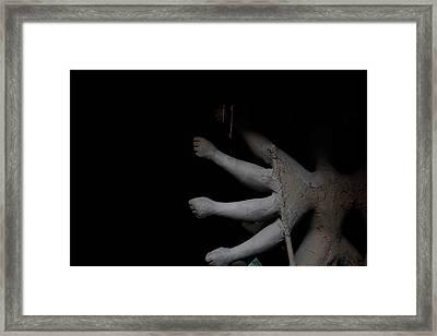 The Making Of The Goddess Framed Print by Avishek Majumder