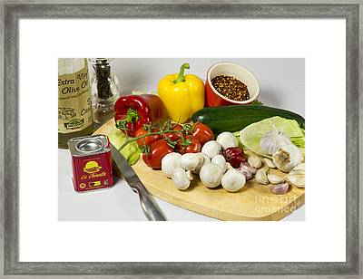 The Makings Of Chilli Framed Print by Donald Davis