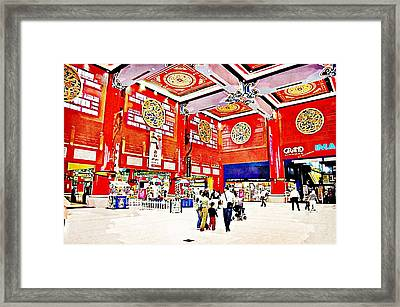 The Mall Framed Print by Peter Waters