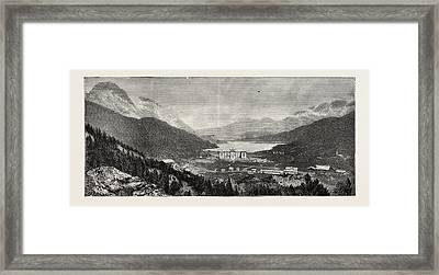 The Maloja Valley, A New Health Resort In The Upper Engadine Framed Print by Swiss School
