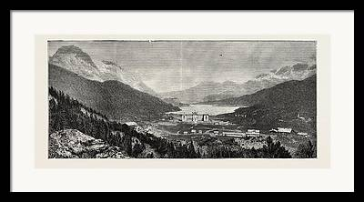 Upper Engadine Valley Framed Prints