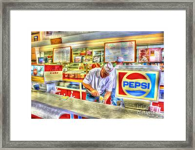 The Malt Shoppe Framed Print