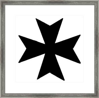 The Maltese Cross Framed Print by Granger