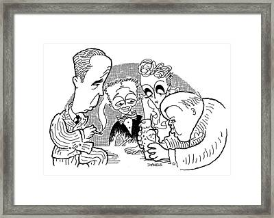 The Maltese Falcon Cartoon Framed Print