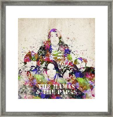 The Mamas And The Papas Framed Print by Aged Pixel