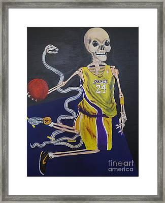 The Mamba Strikes Framed Print by Visual  Renegade Art