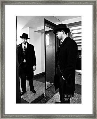 The Man In The Mirror 2 Framed Print