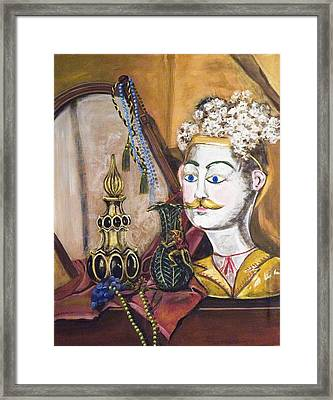 Framed Print featuring the painting The Man In The Mirror by Susan Culver