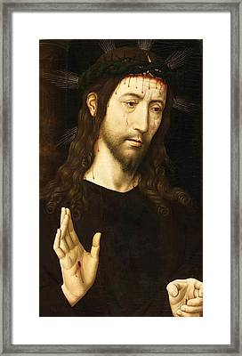 The Man Of Sorrows. Christ Crowned With Thorns Framed Print