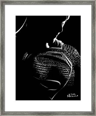 The Man Of Steel Framed Print