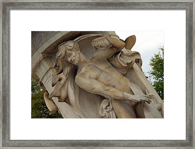 Dupont Circle Fountain -- The Male Wind Framed Print