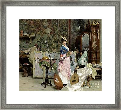 The Mandolin Shop Framed Print by Vincenzo Capobianchi