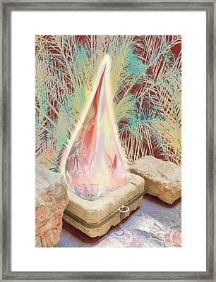 The Manger Is Empty But The Light Still Shines Framed Print by Jennifer Kathleen Phillips