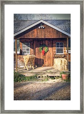 The Manger Framed Print by Lori Douthat