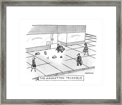 The Manhattan Triangle Framed Print by Mick Stevens