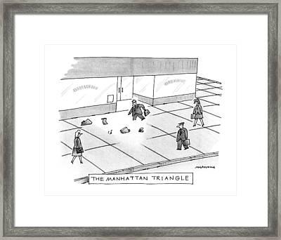 The Manhattan Triangle Framed Print