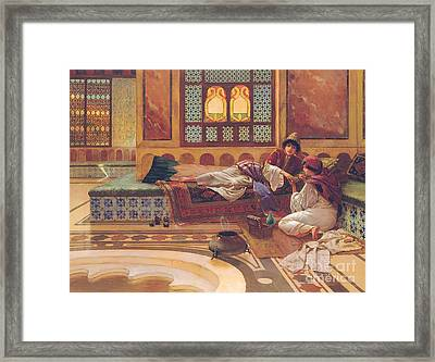The Manicure Framed Print by Rudolphe Ernst
