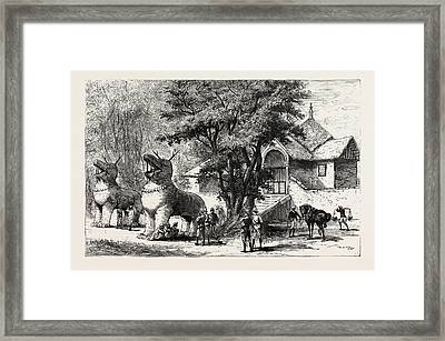 The Manipur Massacres Palace Enclosure At Manipur Where Mr Framed Print by English School