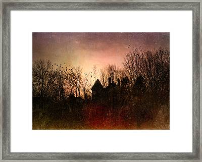 The Mansion Is Warm At The Top Of The Hill Framed Print