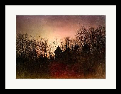 Gothic Mansion Framed Prints