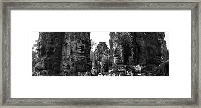 The Many Faces Of Bayon Framed Print