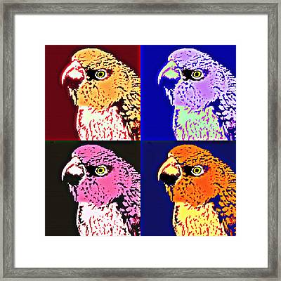 The Many Faces Of Taz Framed Print
