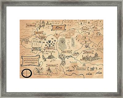 Framed Print featuring the painting The Map Of Kira by Reynold Jay