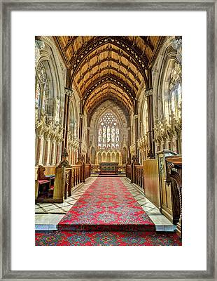 The Marble Church Interior Framed Print by Mal Bray