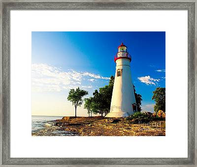 The Marblehead Light Framed Print