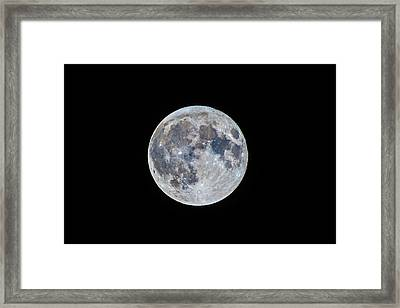 The March Mini-moon Framed Print by Alan Dyer