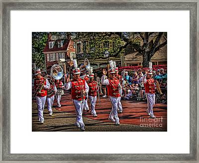 The Marching Band Framed Print