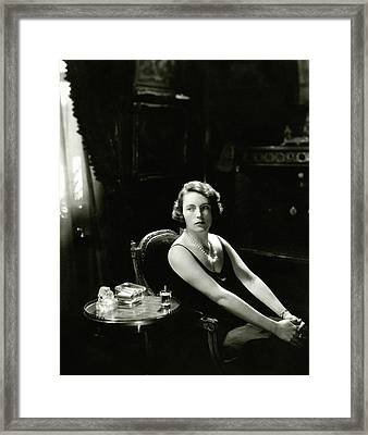 The Marchioness Of Milford Haven Framed Print by Edward Steichen