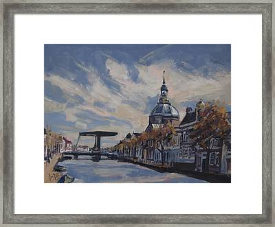 The Mare Church And Mare Bridge Leiden Framed Print