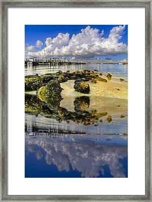 The Marina At Boynton Inlet Framed Print by Debra and Dave Vanderlaan