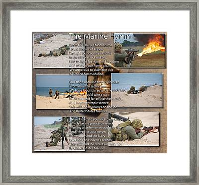 The Marine Corp Hymn Framed Print by Thomas Woolworth