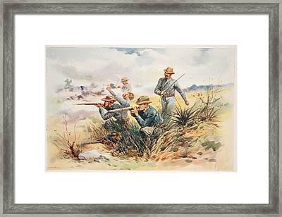 The Marines At Guantanamo, Illustration Framed Print