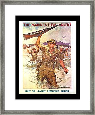 The Marines Have Landed Framed Print
