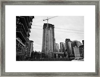 the mark new condo project granville street yaletown Vancouver BC Canada Framed Print by Joe Fox