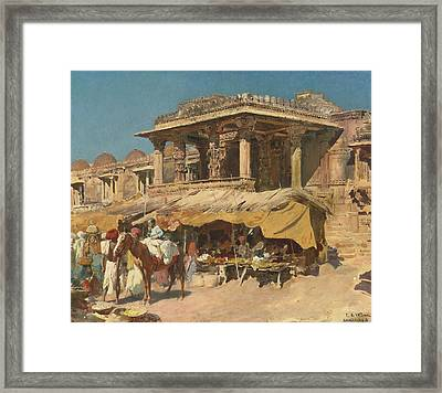 The Market In Ahmadabad Framed Print by Celestial Images