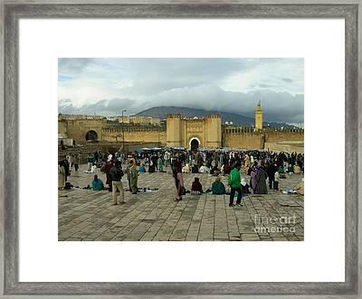 The Market In Fez Framed Print by Sophie Vigneault
