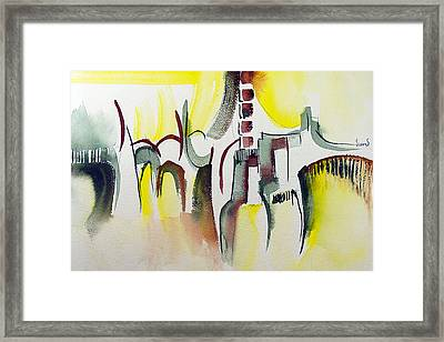 The Market Place Framed Print by Sam Sidders