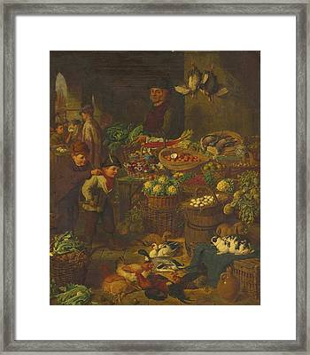 The Market Stall Framed Print by Celestial Images