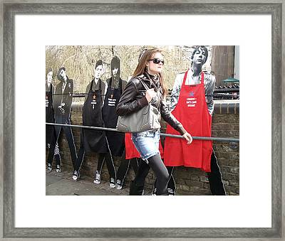 The Market Framed Print by Stephen Norris